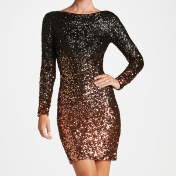 a69e98f6 Lola Ombre Sequin Mini Dress The Population S M. Listing Price: $100.00